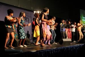 African Mennonites leading us in worship.