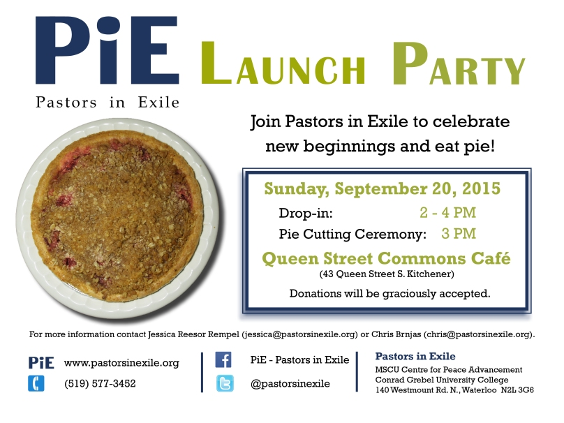 PiE Launch Poster