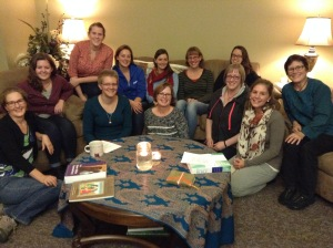 A handful of the wonderful folks who are part of PiE's weekly Feminist Bible Study.